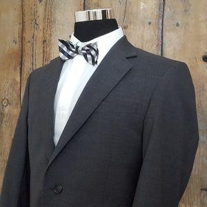 Jos A Bank Sport Coat Mens 40R 100% Wool Gray